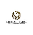 lion logo emblem design concept template vector image vector image