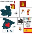 Map of Castilla La Mancha vector image vector image