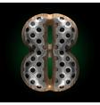 metal and wood figure 8 vector image vector image