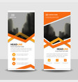 orange triangle business roll up banner flat vector image vector image