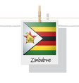 photo of zimbabwe flag vector image vector image