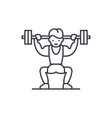 power lifting line icon concept power lifting vector image vector image