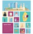 Qatar Culture Flat Icon Set vector image vector image