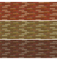 Road and wall design with bricks vector image