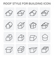 roof type icon vector image