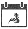 Rooster Calendar Day Grainy Texture Icon vector image