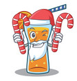 santa with candy cocktail character cartoon style vector image vector image