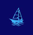 sea ship business logo design vector image vector image