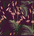 seamless pattern orange lilies flowers vector image vector image