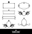 set decorative frames and borders vector image