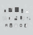 smartphone and accessories icons 04 vector image vector image