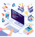 software developers isometric vector image vector image
