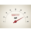 Speedometer on white background vector image vector image