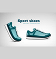 sport shoes realistic composition vector image vector image