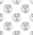 Sport trophy seamless pattern sketch doodle Hand vector image