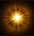 star burst with sparkles light effect gold vector image