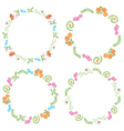 summer frames with flora and fauna vector image vector image