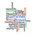 summer travel with word vector image