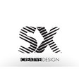 sx s x lines letter design with creative elegant vector image vector image