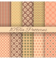 Tea abstract seamless patterns tiling swatch vector image vector image