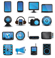 Technology device icons vector image vector image