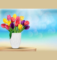 Tulip flowers background vector image vector image