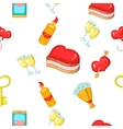 Valentines day pattern cartoon style vector image