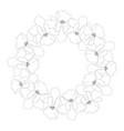 vanda miss joaquim orchid outline wreath vector image vector image