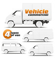 Vehicle Commercial vector image vector image