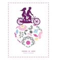 vibrant floral scaterred couple on tandem bicycle vector image vector image