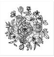 vintage floral element vector image vector image