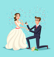 wedding and marriage couple design proposal vector image vector image