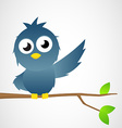 Bird is pointing vector image