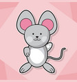 cute mouse baby animal cartoon image vector image