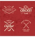 Set of Retro cricket club emblems design Cricket vector image