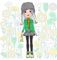 fashion hipster girl vector image