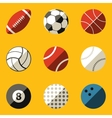Flat icon set Sport ball vector image