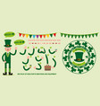 a flat character leprechaun for your scenes vector image vector image
