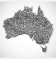 abstract map of australia with circles vector image vector image