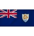 Anguilla waving flag vector image vector image