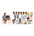 arab man office worker animation creation vector image vector image
