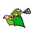 archer lacrosse sport mascot vector image