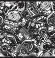 automobile car parts seamless pattern vector image