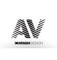 av a v lines letter design with creative elegant vector image vector image