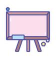 back to school chalkboard with eraser equipment vector image