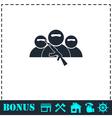 Bandit group icon flat vector image vector image