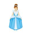 beautiful girl wearing the princess dress vector image vector image