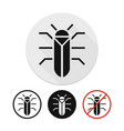 beetle icon vector image vector image