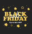black friday sale poster shoping fashion vector image vector image