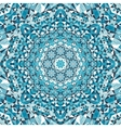 blue circular floral kaleidoscope pattern vector image vector image